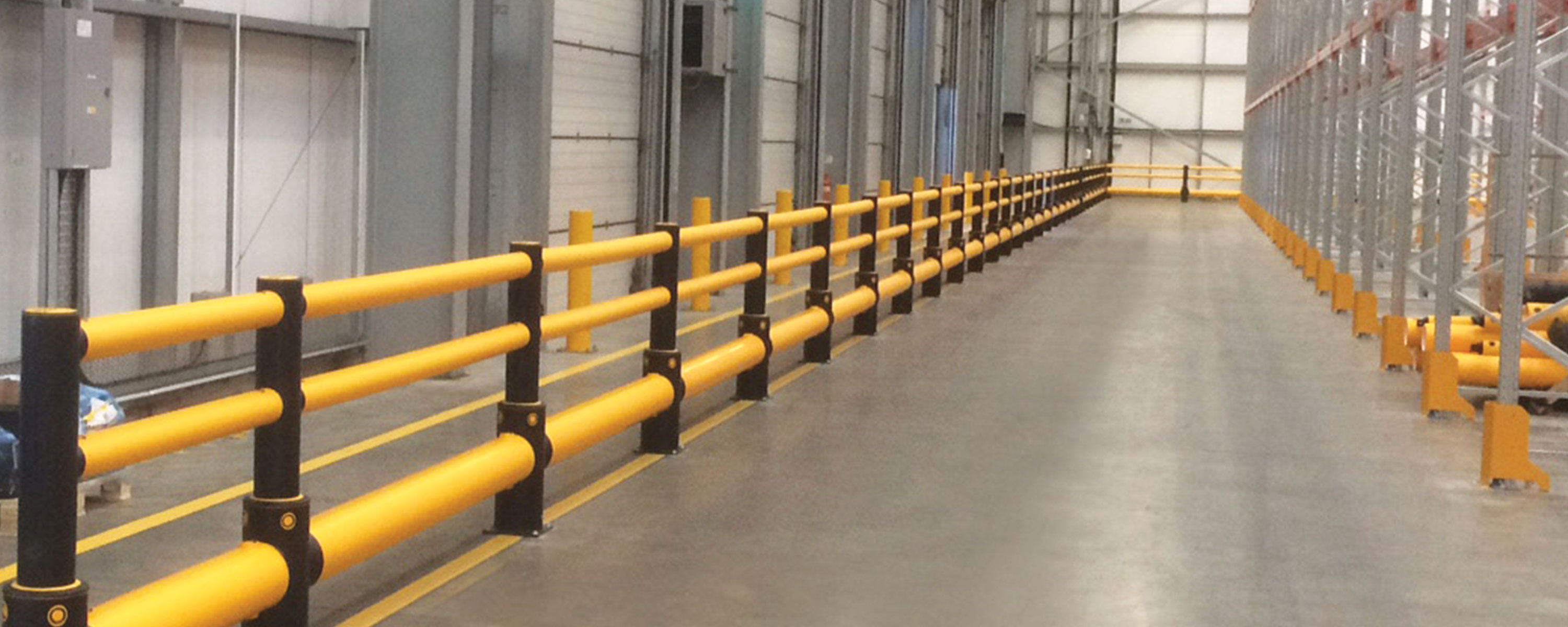 <p>Warehousing | Combined traffic protection and pedestrian segregation at DHL</p>